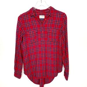 Universal Thread Red Plaid Flannel Shirt S